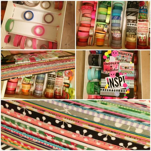 365 moodboards i 2014. Moodboard #3. Collage med farvekoordineret maskingtape og min pimpede notesbog. Uden filter. Fotograf: Susanne Randers