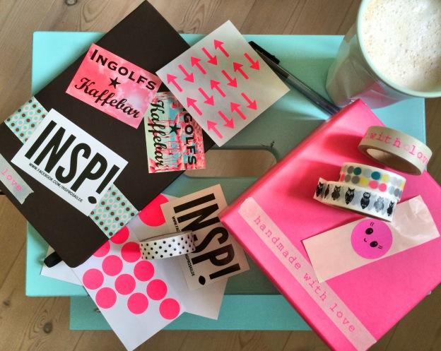 """365 moodboards i 2014. Moodboard #3: """"Pimper min nye notesbog og glæder mig til smukke morgensider i 2014"""". Uden filter. Fotograf: Susanne Randers"""