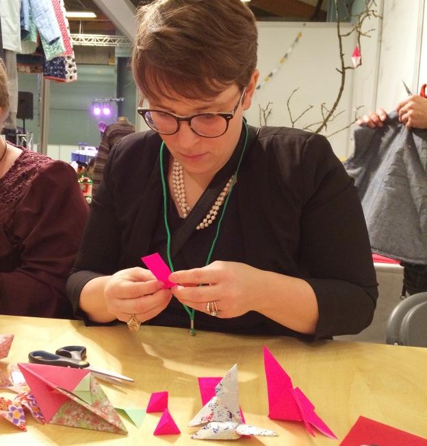 365 moodboards i 2014. Moodboard #31: MyMinMy og Krittewitt afholdt origami workshop i blogosfæren. Fotograf: Susanne Randers