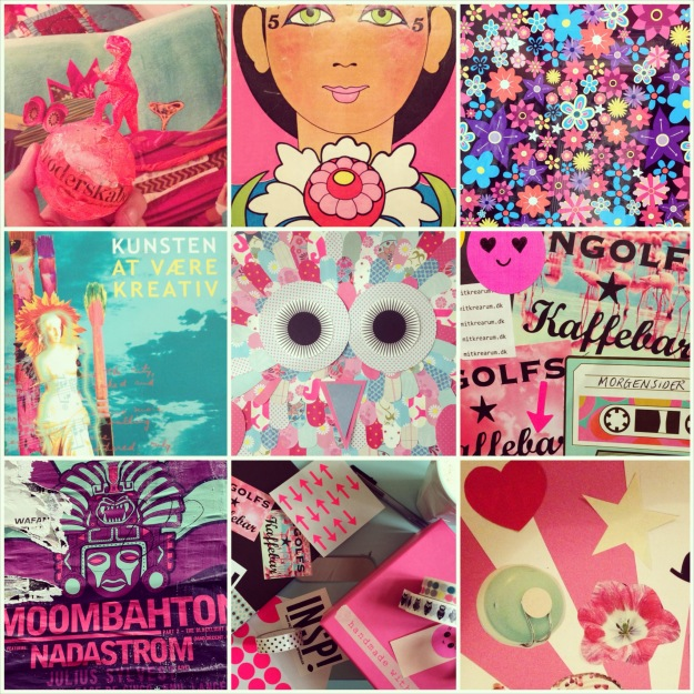 "365 moodboards i 2014. Moodboard #7: ""Feeling pink and turquoise again"". Photo collage. Instagram filter Valencia. Photographer: Susanne Randers"