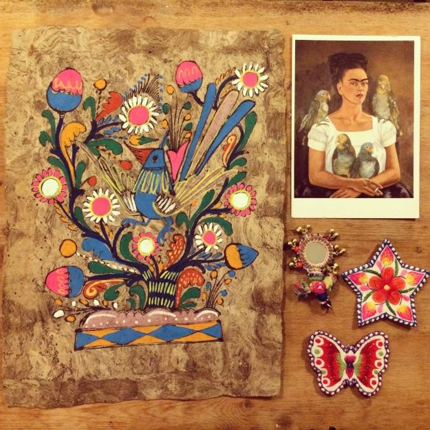 "365 mood boards in 2014. Moodboard #8: ""In Frida Kahlo mood"". Smashup. Instagram filter Valencia. Photographer: Susanne Randers"