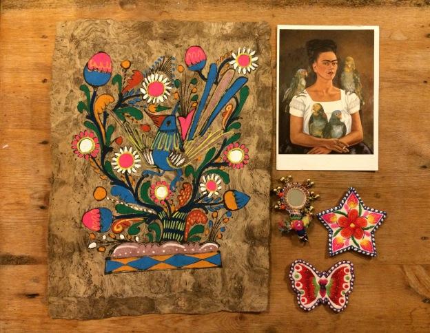 """365 moodboards i 2014. Moodboard #8: """"I Frida Kahlo mood"""". Smashup. Fotograf: Susanne Randers"""