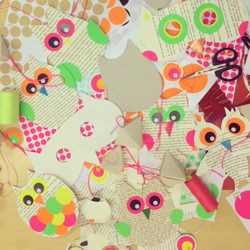365 mood boards in 2014. Mood board #51: A bunch of lovely owl templates. Instagram filter Valencia. Photographer: Susanne Randers