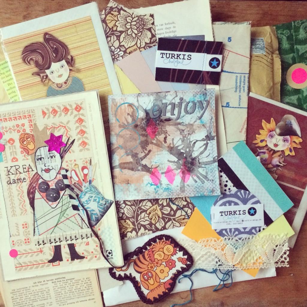 mitkrearum.dk kreativitet creativity 365 moodboards in 2014 52 Pennevennepakkepost og kreadame fra turkisshop Instagram filter Valencia fb