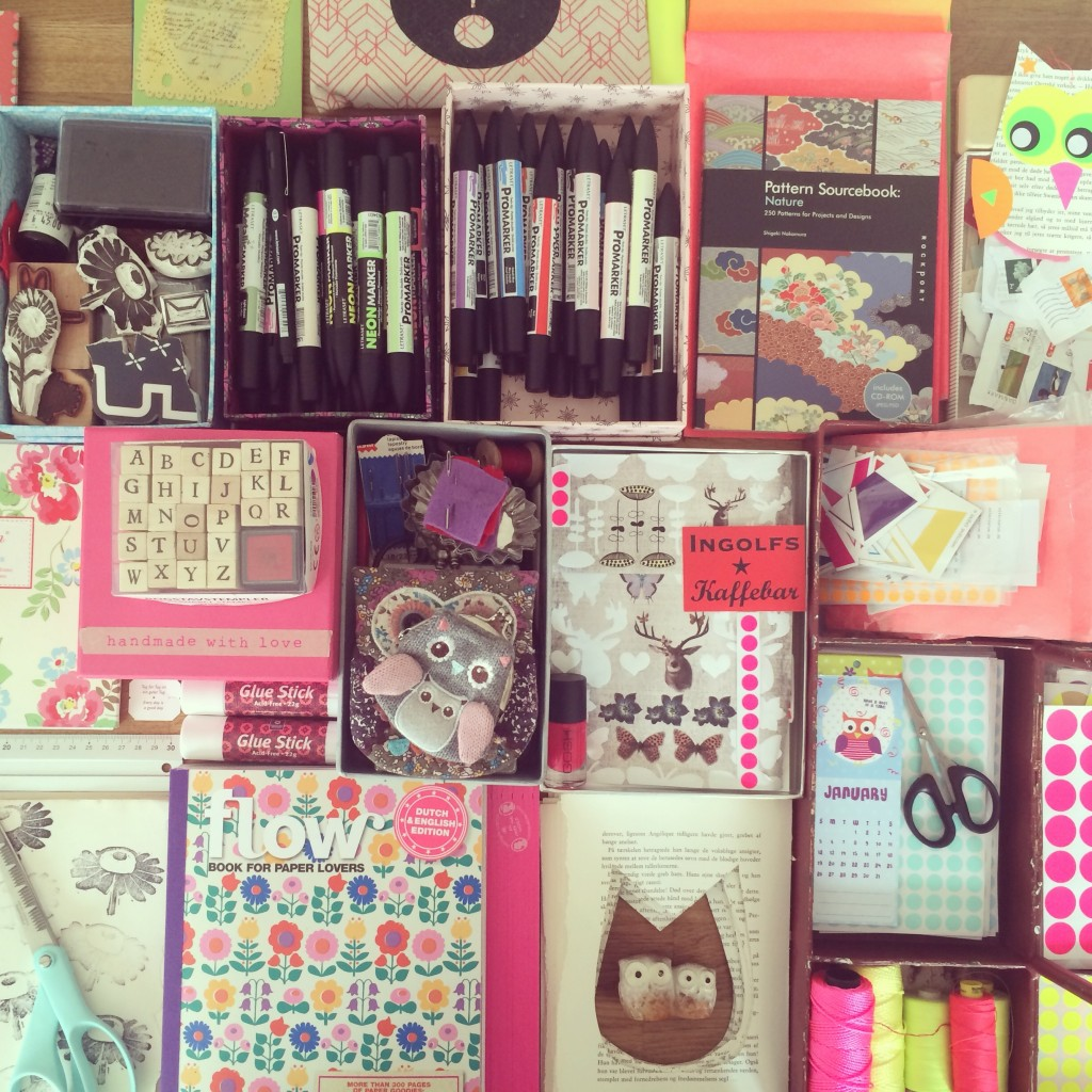 365 mood boards i 2014. Mood board #57: Glimpses of my creative treasuries. Smashup. Instagram filter Valencia. Photographer: Susanne Randers