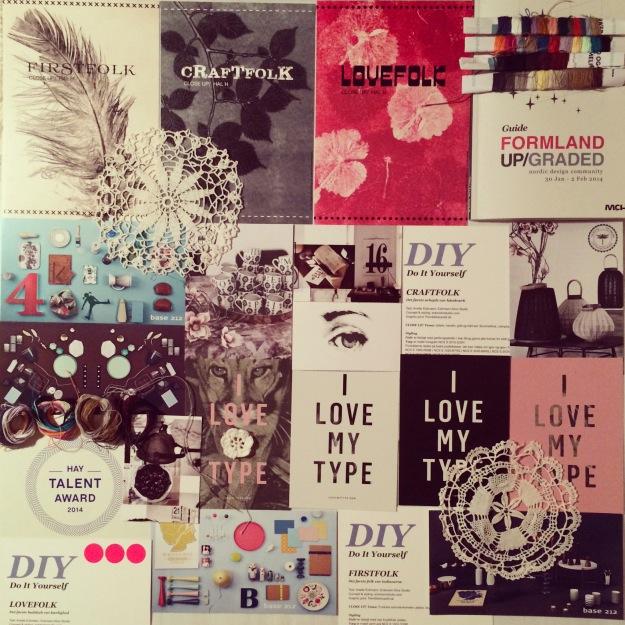 365 mood boards in 2014. Mood board #32: Firstfolk, Craftfolk & Lovefolk DIY LOVE ♥ Formland UP/GRADED. Smashup. Instagram filter Valencia. Photographer: Susanne Randers