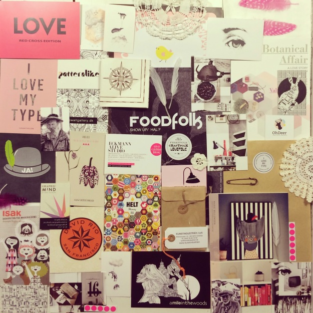 365 mood boards in 2014. Mood board #34: Pink creative vibrations from FORMLAND UP/GRADED. Smashup. Instagram filter Valencia. Photographer: Susanne Randers