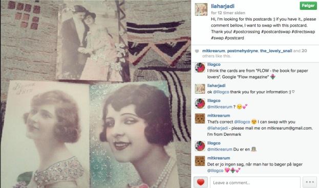 365 moodboards i 2014. Moodboard #39: Romantiske postkort på vej til Indonesien. Skærmdump fra Instagram. Fotograf: Susanne Randers