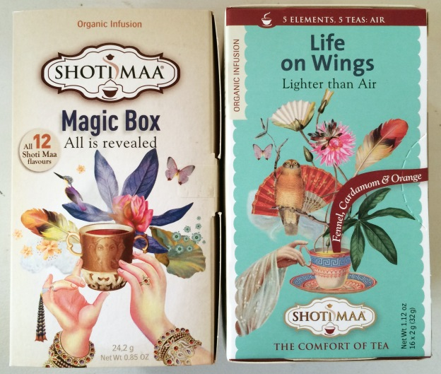 365 moodboards i 2014. Moodboard #40: Økologiske teer fra Shoti Maa. Magic Box & Life on Wings. Fotograf: Susanne Randers