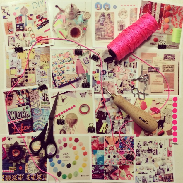 365 mood boards in 2014. Mood board #41: Preparing a new inspiration wall for 365 mood boards. Smashup. Instagram filter Valencia. Photographer: Susanne Randers