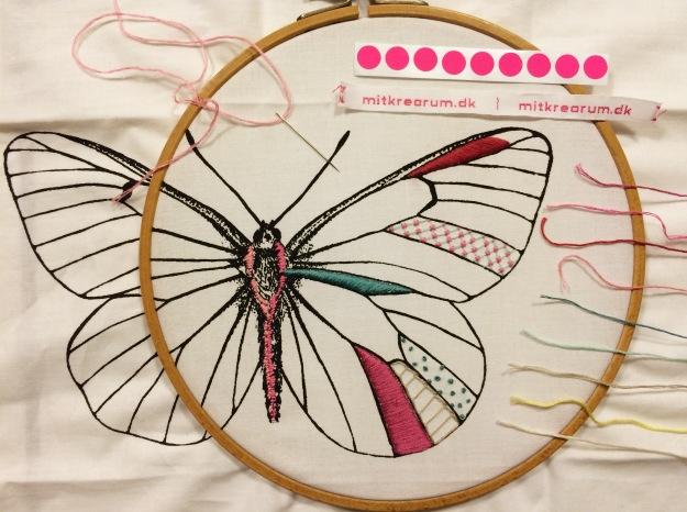 365 moodboards i 2014. Moodboard #47: Skønt kreatræf og en ny start med det smukkeste sommerfuglebroderi. Smashup. Fotograf: Susanne Randers