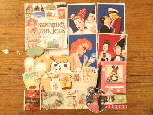365 moodboards i 2014. Moodboard #60: Vintage papir goodies fra Indonesien. Smashup. Fotograf: Susanne Randers
