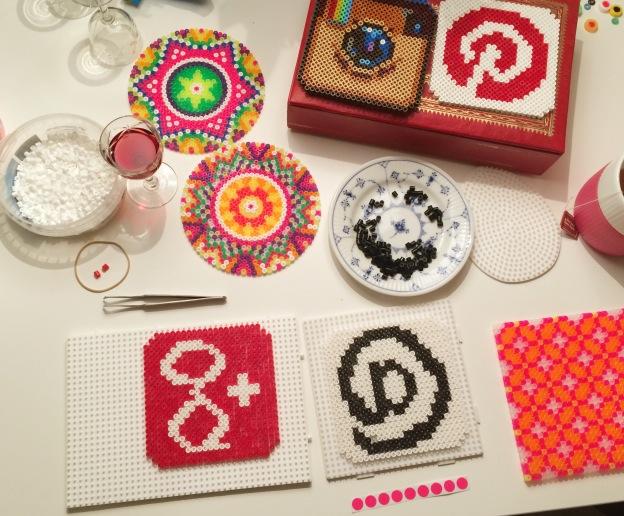 365 moodboards i 2014. Moodboard #86: Til kreativ salon med hama perleplader. Smashup. Fotograf: Susanne Randers