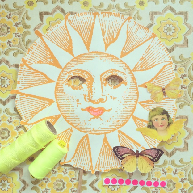 365 mood boards in 2014. Mood board #89: Sunshine in my studio. Smashup. Instagram filter Valencia. Photographer: Susanne Randers