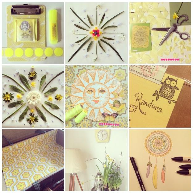 365 moodboards i 2014. Moodboard #90: Gør klar til en ny start. Farvel gule, solrige marts. Smashup. Instagram filter Valencia. Fotograf: Susanne Randers
