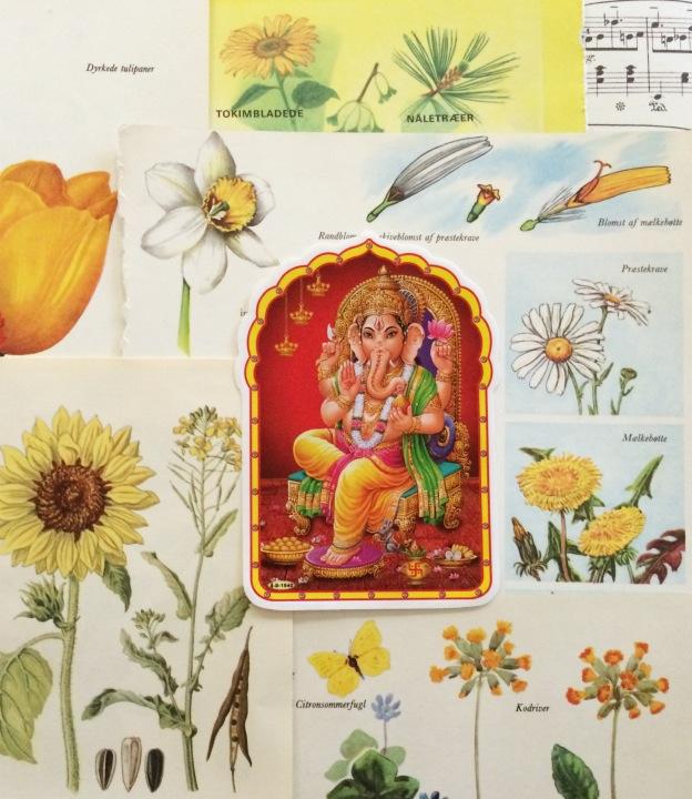 365 moodboards i 2014. Moodboard #101: Ganesh i det smukkeste selskab. Close up. Smashup. Fotograf: Susanne Randers