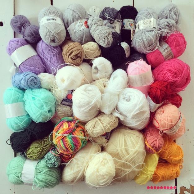 365 mood boards in 2014. Mood board #119: Ready for yarnbombing. Instagram filter Valencia. Photographer: Susanne Randers