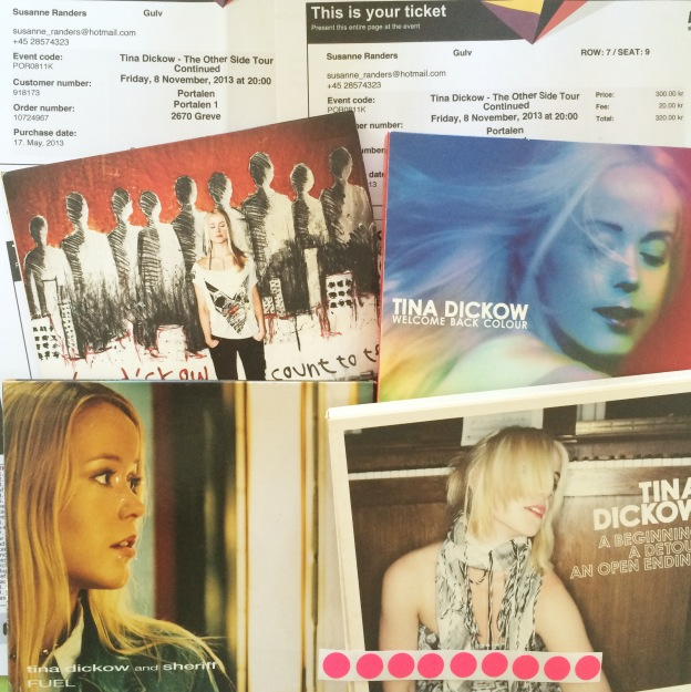 365 moodboards in 2014. Moodboard #123: Welcome Back Colour. Tina Dickow koncert. Fotograf: Susanne Randers