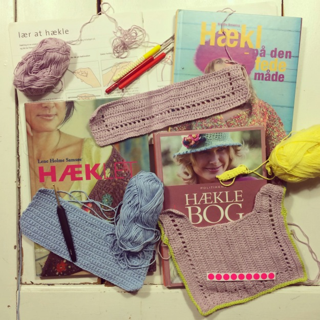365 mood boards in 2014. Mood board #129: Mission learning to crochet all stitches. Instagram filter Valencia. Photographer: Susanne Randers