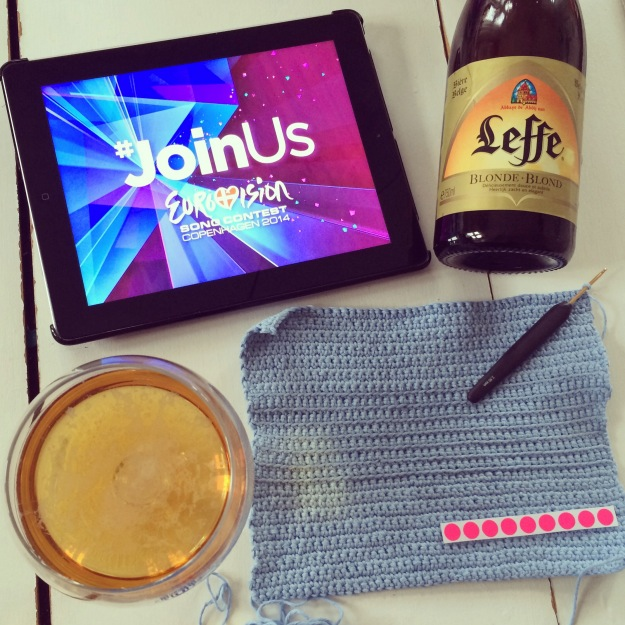 365 mood boards in 2014. Mood board #130: Ready for Eurovision Song Contest 2014. Beer and crochet. Instagram filter Valencia. Photographer: Susanne Randers