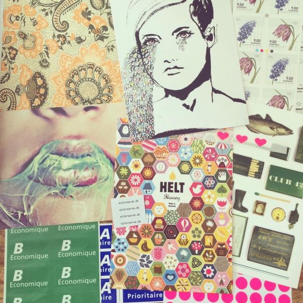 365 mood boards in 2014. Mood board #139: Scraps that speak to my heart. Instagram filter Valencia. Photographer: Susanne Randers