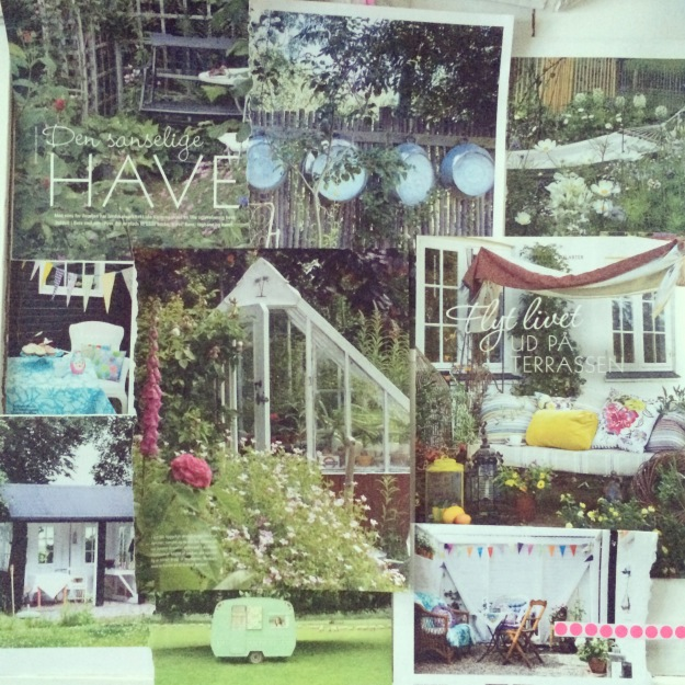 365 mood boards in 2014. Mood board #140: Garden spaces and garden dreams. Collage. Instagram filter Valencia. Photographer: Susanne Randers