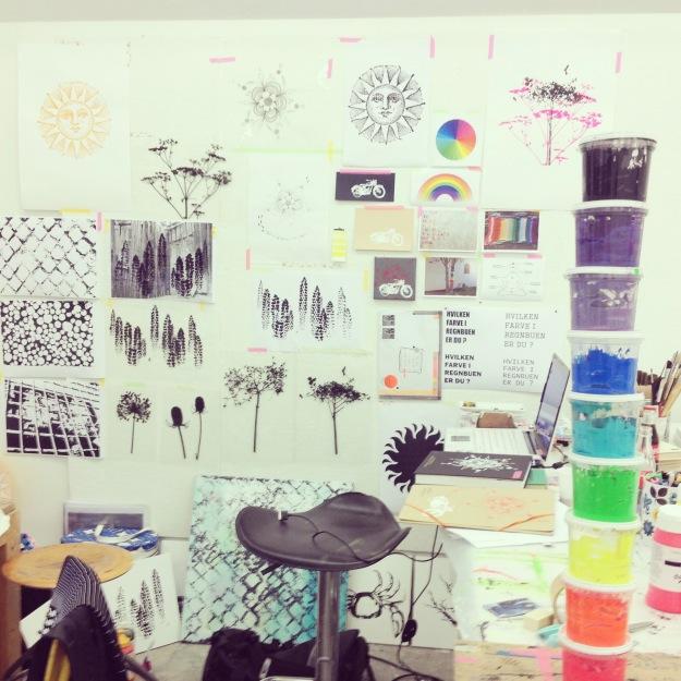 365 mood boards in 2014. Mood board #142: My inspiration wall from last summer's art school. Kunsthøjskolen in Holbæk. Instagram filter Valencia. Photographer: Susanne Randers